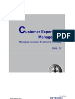 Detecon Opinion Paper Customer Experience Management. Managing Customer Experience Profitably