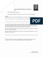 The Impact of Human Resource Management Practices on Perceptions of Organiz