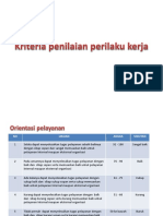 Kriteria Penilaian Perilaku Kerja