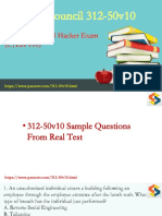 Certified Ethical Hacker 312-50v10 PDF dumps download