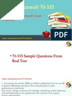 2018 Update Microsoft Azure 70-535 PDF Dumps