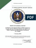 NSA IG Report January 7 - 2016