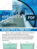 3. Hydrostatic Forces on Surfaces