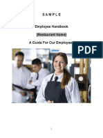 Sample Employee Handbook for Restaurants