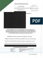 2016 DOJ National Security Division Certification Filing - Sep 26 2016 - John P Carlin