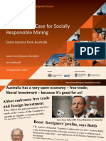 Remarks on the Business Case for Socially Responsible Mining