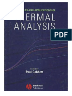 Principles and Applications of Thermal Analysis - 1405131713