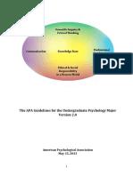 Psychology Major Guideline