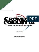 Romeo e Giulietta Ama e Cambia Il Mondo - Cartella Stampa_2018