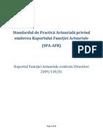 Standardul de Practica Actuariala Raportul Functiei Actuariale 1
