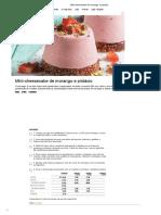 Mini-cheesecake de Morango e Pistácio