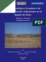 Boletin N%C2%BA 030- Estudio Geologico y Economico de Rocas y Materiales Industriales en La Region Puno