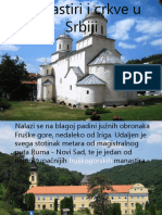 Manastiri i Crkve u Srbiji