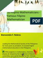 Philippine Famous Mathematicians