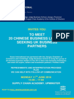 11th June Networking Invitation Chinese Business Leaders