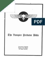 The Vampire Predator Bible