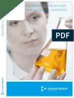 DURAN Laboratory Glassware Catalogue Francais Espanol Original