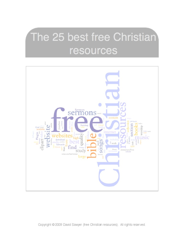 25 Free Christian Resources | Chapters And Verses Of The