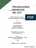 La Condamnation Parisienne de 1277