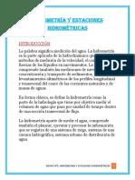 Hidrometría y Estaciones Hidrométricas