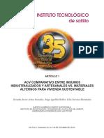 ACV Comparativo Entre Insumos Industrializados y Artesanales vs. Materiales Alternos Para Vivienda Sustentable