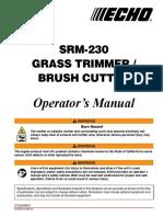 SRM-230es Operator's Manual 1112 022414