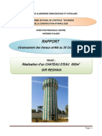 Rapport Mensuel Cateau d'Eau 500m3 GIR REGHAIA 2