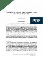 [Jahrbuch Für Geschichte Lateinamerikas – Anuario de Historia de America Latina] Inmigración de Judíos de Habla Alemana a Chile y Perú Durante El Siglo XIX