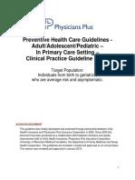Guidelines Preventivehealth
