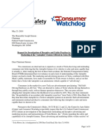 CAS and CW Letter to FTC on Tesla Deceptive Advertising