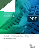 D-UMAR-0088 MUSU08 - Implem. PM TPC - Estrategia Mantenimiento