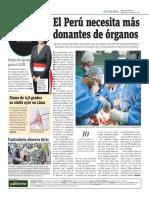 El Perú Necesita Más Donantes de Órganos