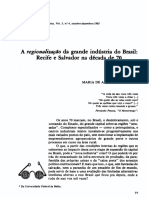 A Regionalização Da Grande Indústria Do Brasil