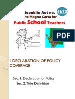 RA No. 4670- The Magna Carta of Public School Teachers.pptx