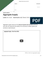 Aggregate Supply  ECONOMICS