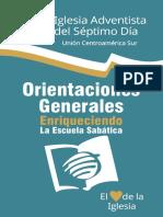 Escuela Sabatica Orientaciones Generales