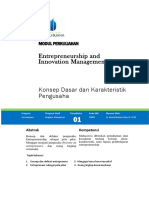 Entrepreneurship and Innovation Management Chap 1