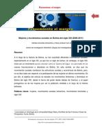 Mujeres y Movimientos Sociales en Bolivia Del Siglo XXI -2000-2011