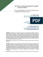 Caracteristicas Da Gestao Da Secao de Operacoes Do Comando Militar Do Sudeste