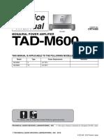 Pioneer TAD-M600 (CRT4485) Audio