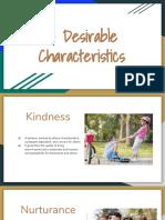 13 desirable characteristics