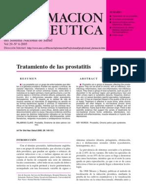 causas de prostatitis y tratamientos gratuitos