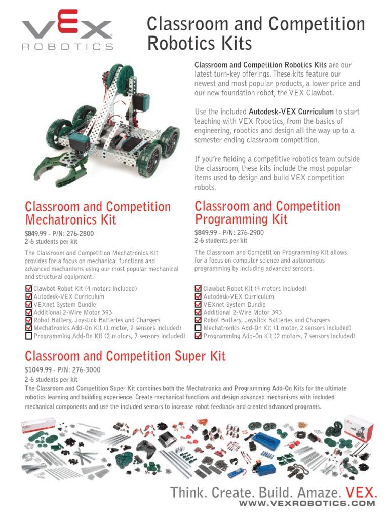 VEX ClassroomAndCompetition Robotics Kitsrev2 | Robotics | Mechatronics