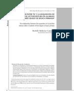Relación Entre Tic y La Adquisición de Habilidades Lectoescritura