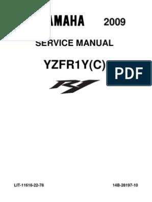Yamaha R1 2009 Service Manual | Throttle | Fuel Injection
