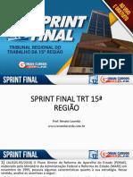 Sprint Final Trt 15ª Região - Renato Lacerda