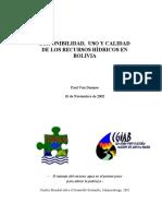 Recursos Hidricos bolivia