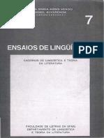 A Classificalção Dos Tapirapé Na Família Tupi-guarani