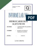 Hidrocarburos Alifaticos - Lab Nº1
