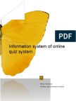 Information System of Online Quiz System